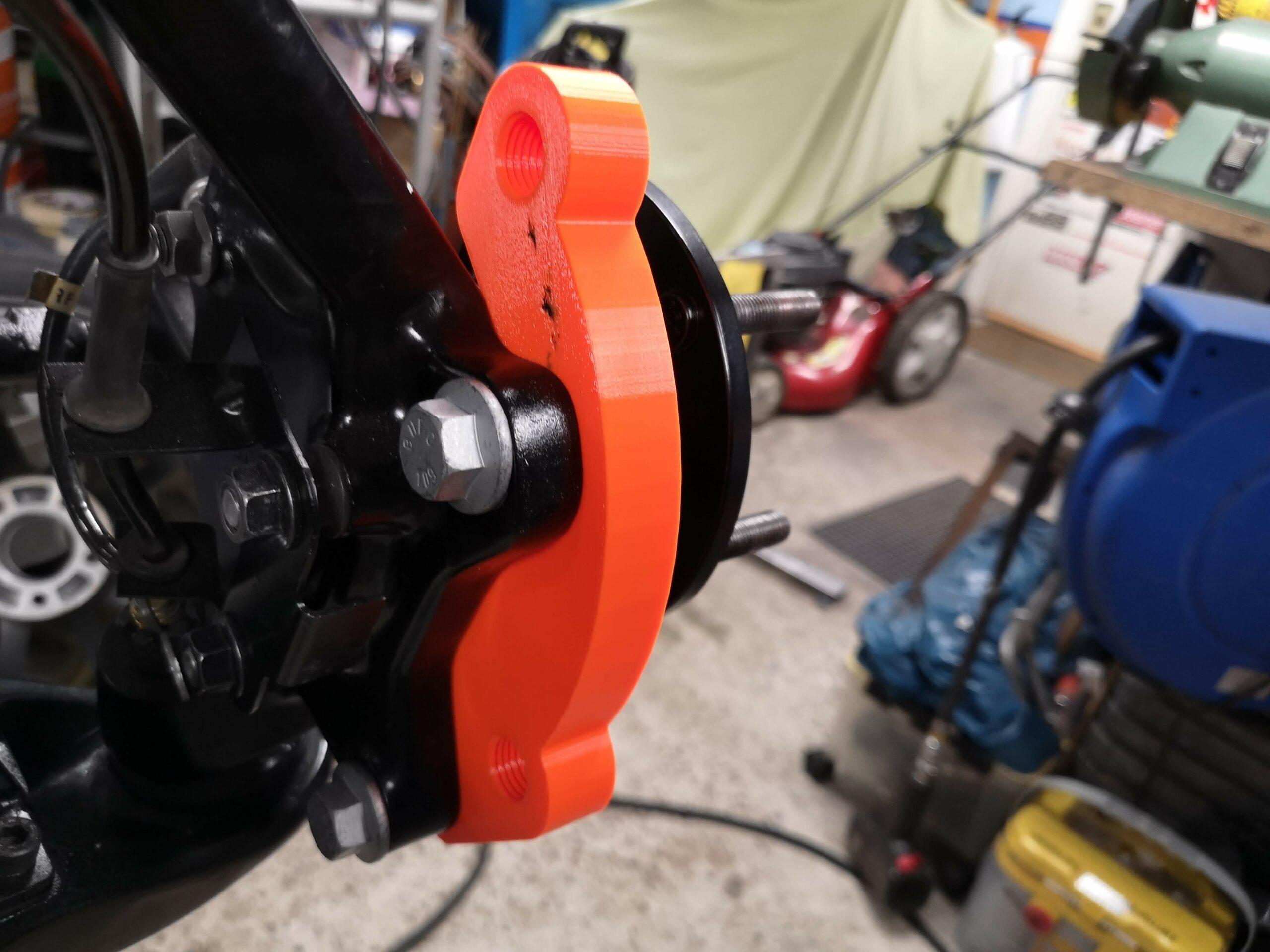 3D printning av bromsoksadapter